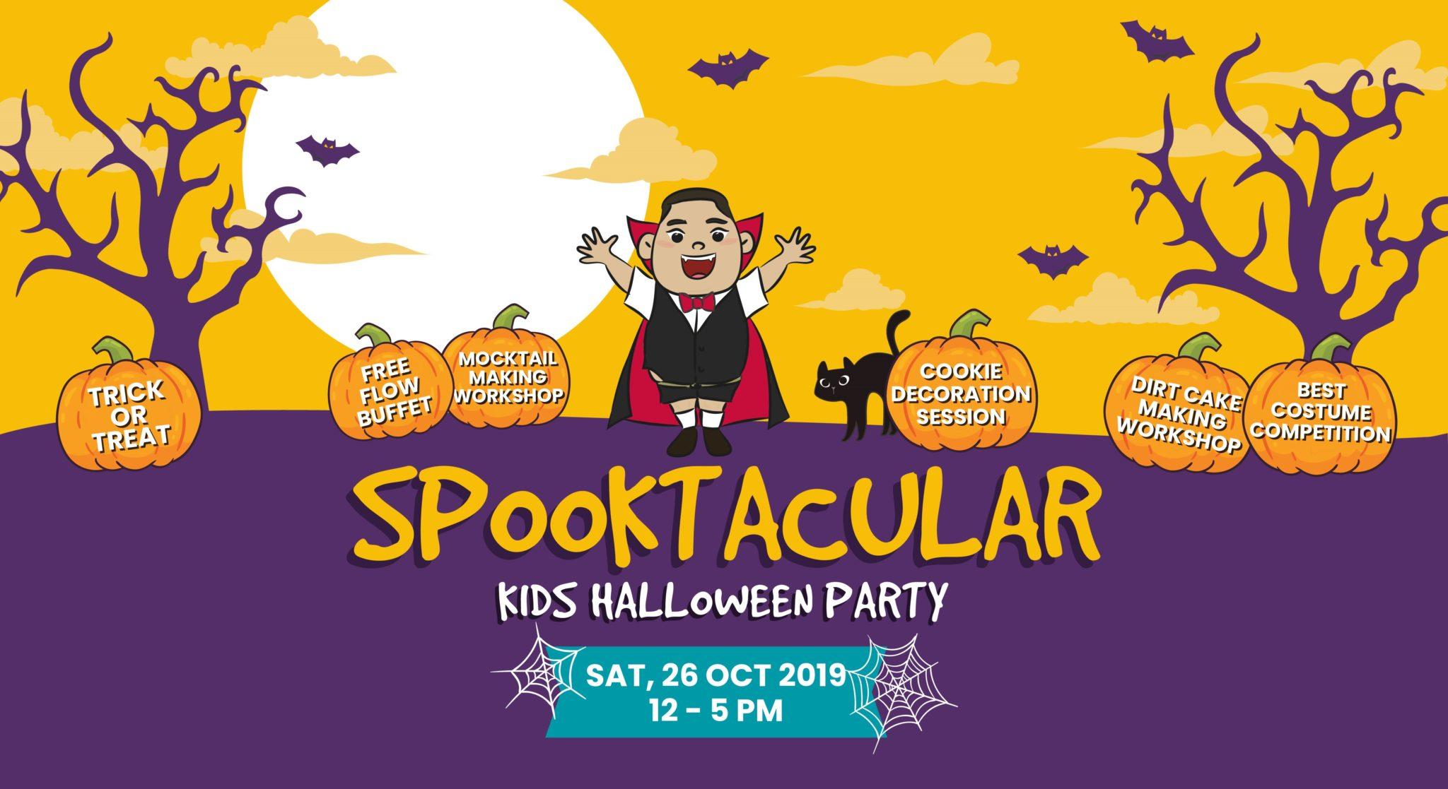 halloween kids party, family activity, kid-friendly asian restaurant at Suntec City, costume party with free flow buffet and DIY workshops at Fat Chap