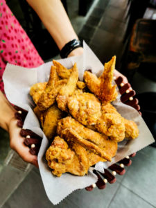 Fried Chicken wings and beer promotion every Monday, great for sharing with friends and colleagues after work